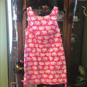 Lilly Pulitzer pink elephant dress